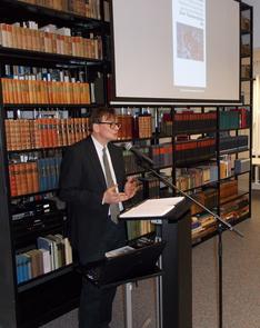 Michael Wiesberg referierte in der BdK Berlin anlässlich des 70. Geburtstags von Botho Strauß