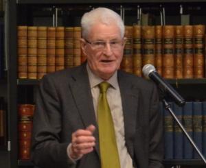 Erich Weede bei seinem Vortrag